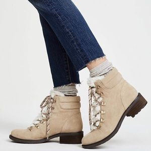 Sam Edelman Darrah Suede & Fur Winter Ankle Boots